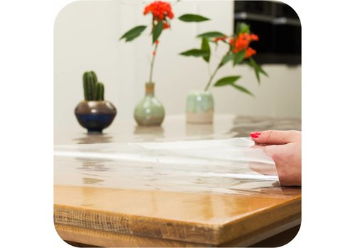 MixMamas Transparant tafelzeil 180 cm op rol 10m