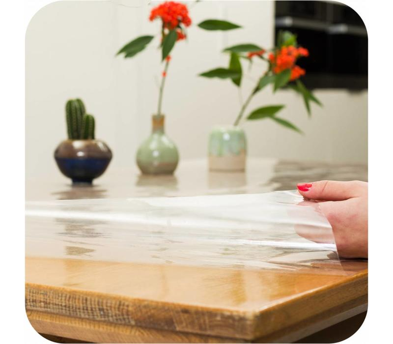 Transparant tafelzeil extra breed 180 cm op rol 10m