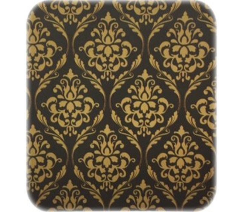 Europees Eco tafelzeil Rol 20m barok zwart-goud