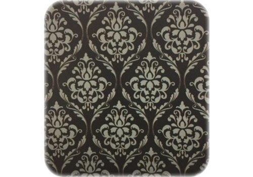 MixMamas Tafelzeil Eco op rol 20M  barok zwart-zilver