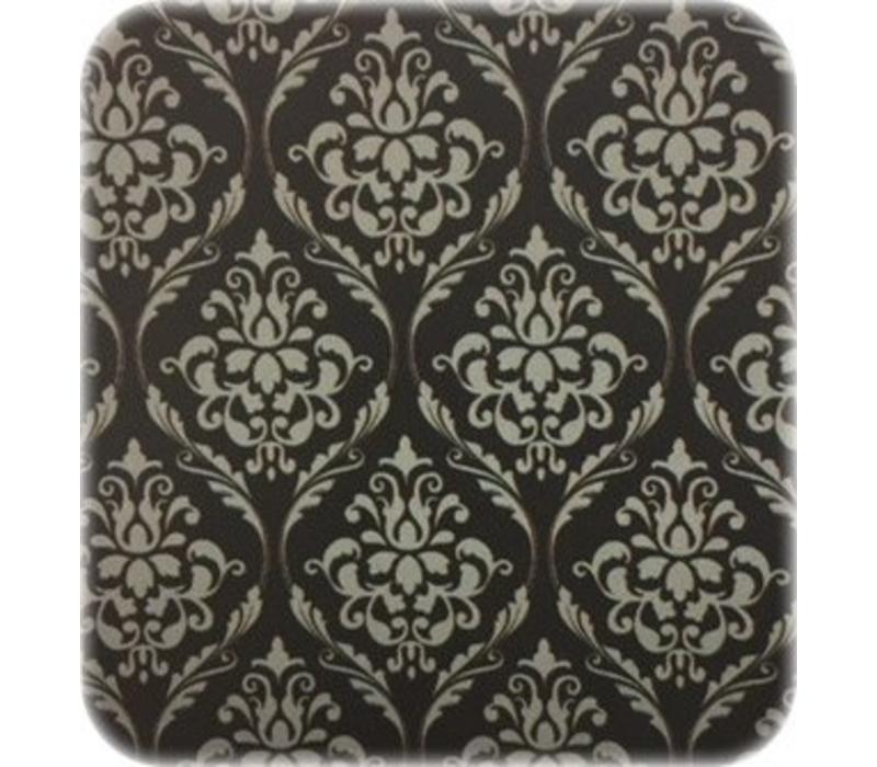 Europees Eco tafelzeil Rol 20m barok zwart-zilver