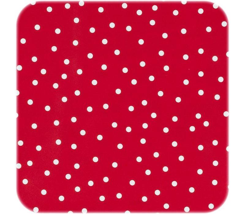 Tafelzeil Stipjes - 140 x 250 cm - Rood/Wit