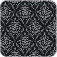 Tafelzeil Barok - 140 x 250 cm - Zwart/Zilver