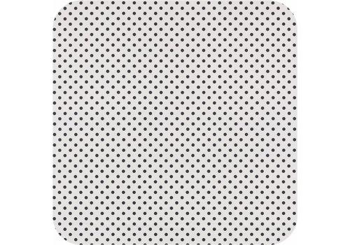 MixMamas Gecoat tafelkleed wit met zwarte stippen 250 cm