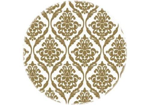 MixMamas Tafelzeil Eco barok goud rond 140 cm