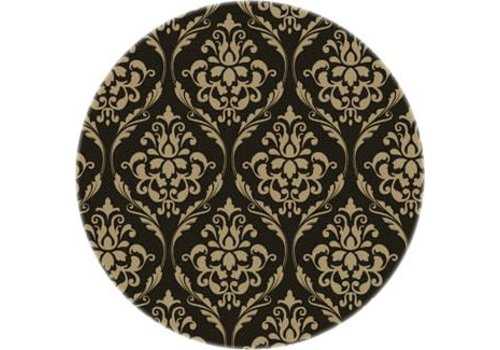 MixMamas Tafelzeil Eco barok Rond zwart-goud 40 cm