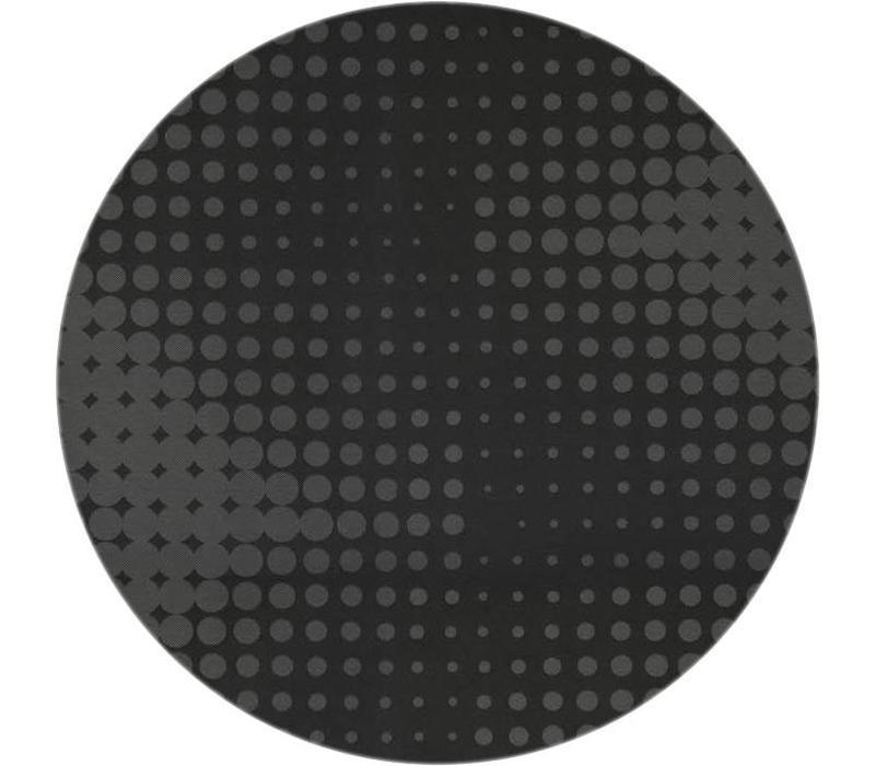 Rond Tafelkleed Gecoat - Ø 160 cm - Hippe Stippen - Zwart