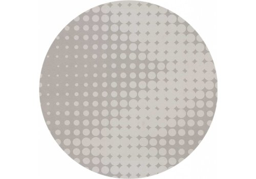 MixMamas Rond Tafelkleed Gecoat - Ø 160 cm - Hippe Stippen - Grijs