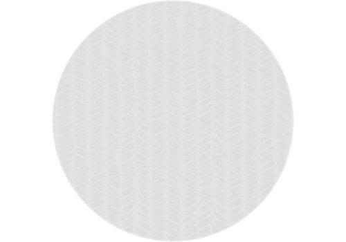 MixMamas Rond Tafelkleed Gecoat - Ø 160 cm - Feuilles - Wit