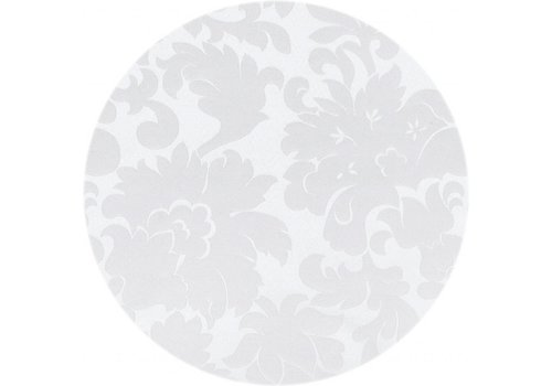 MixMamas Rond  Tafelkleed Wit  Ø 160 cm Bloem Wit