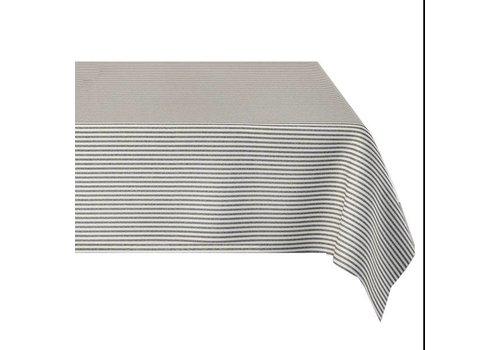 MixMamas Tafelkleed Gecoat Strepen - 140 x 250 cm - Grijs