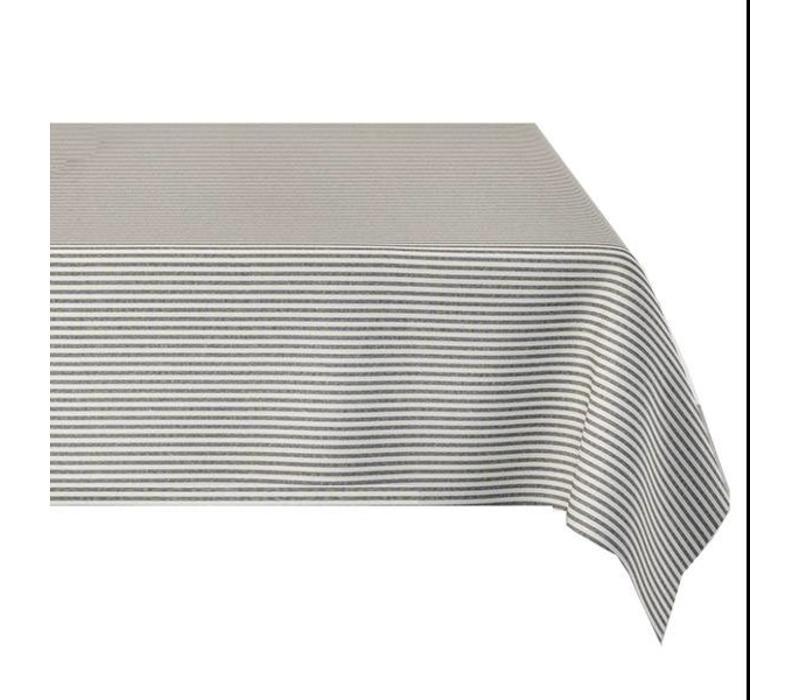 Tafelkleed Gecoat Strepen - 140 x 250 cm - Grijs