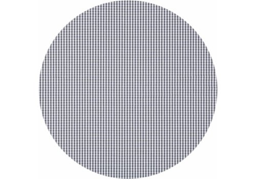 MixMamas Rond Tafelkleed Gecoat - Ø 180 cm - Ruitje - Grijs