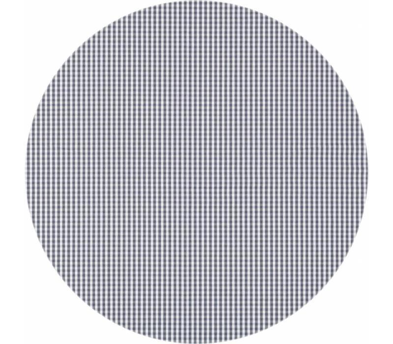 Rond Tafelkleed Gecoat - Ø 180 cm - Ruitje - Grijs