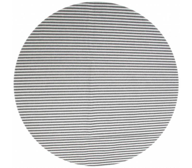 Rond Tafelkleed Gecoat - Ø 160 cm - Strepen- Marineblauw