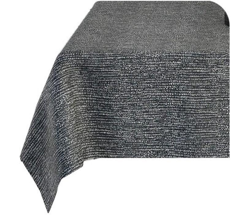 Rond Tafelkleed Gecoat - Ø 160 cm - Steenkool - Zwart