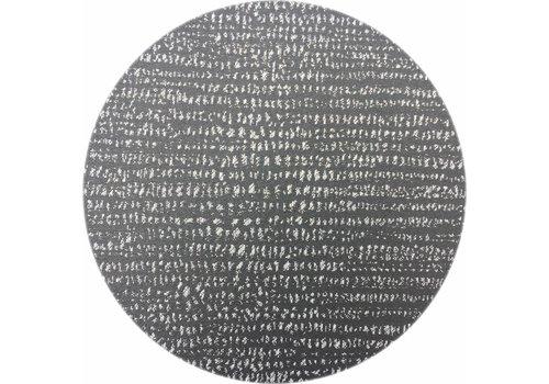 MixMamas Rond Tafelkleed Gecoat - Ø 160 cm - Steenkool - Zwart