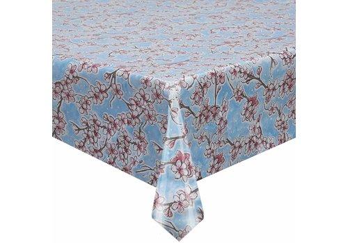 MixMamas Tafelzeil Kersenbloesem - 120 x 220 cm - Lichtblauw