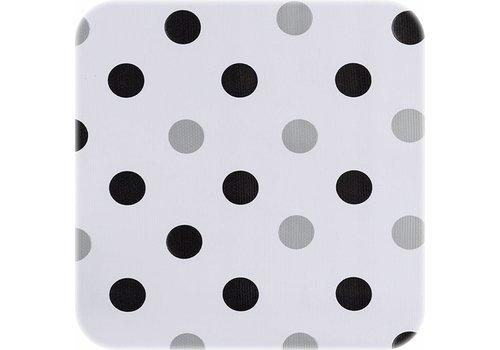 MixMamas Tafelzeil Confetti -120 x 180 cm - Zwart/Zilver