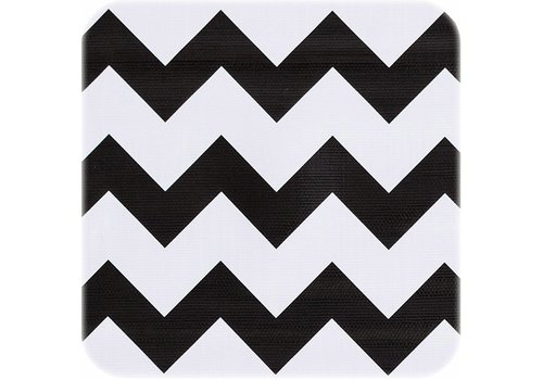 MixMamas Tafelzeil Zigzag - 120 x 180 cm - Zwart