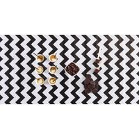 Mexicaans Tafelzeil Zigzag - 120 x 180 cm - Zwart