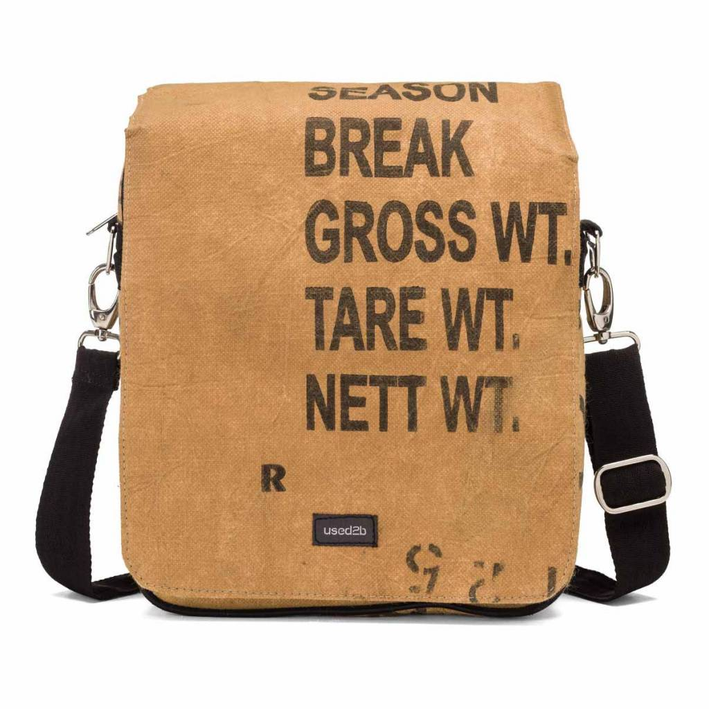 Used2b Stoere Urban  Messenger upcycled theezakken