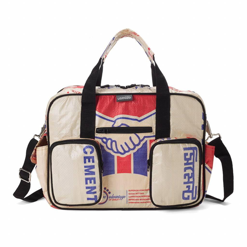 Used2b College bag upcycled cement Akij