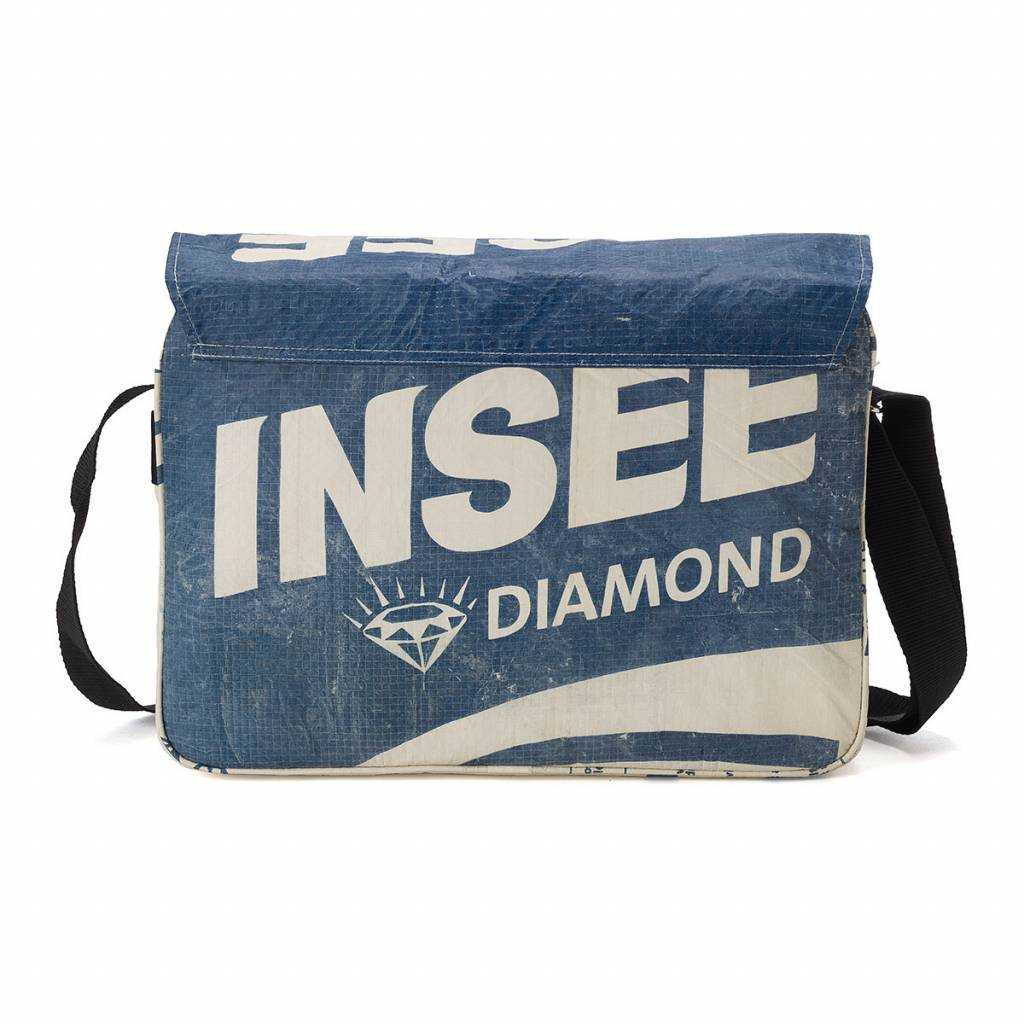 Used2b Urban messenger upcycled cement bags Diamond