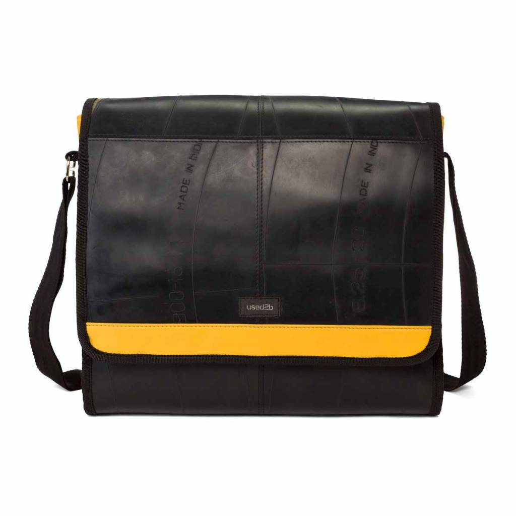 Used2b Urban Messenger L upcycled inner car tubes