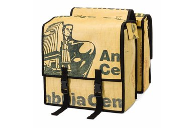 Double pannier bags Upcycled from Cement bags