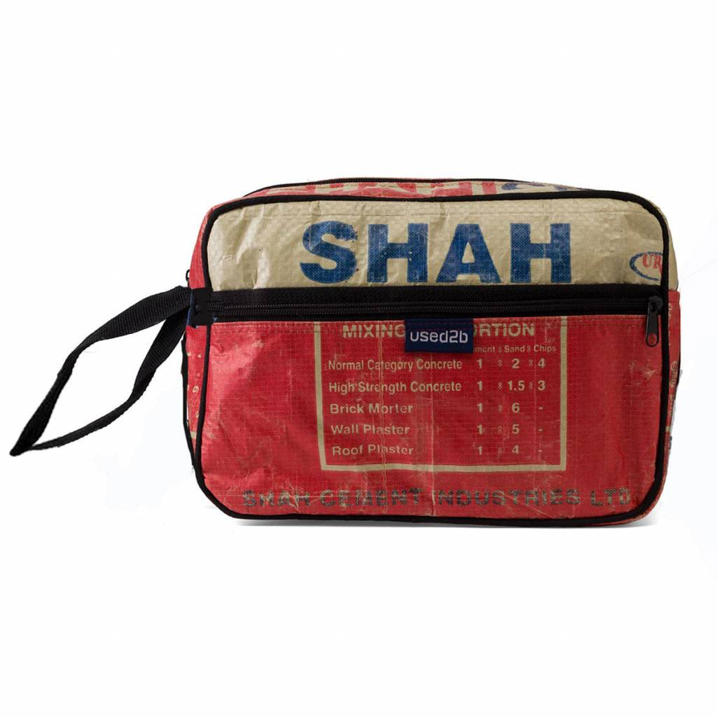 Used2b Toiletry bag cement bags Shah red