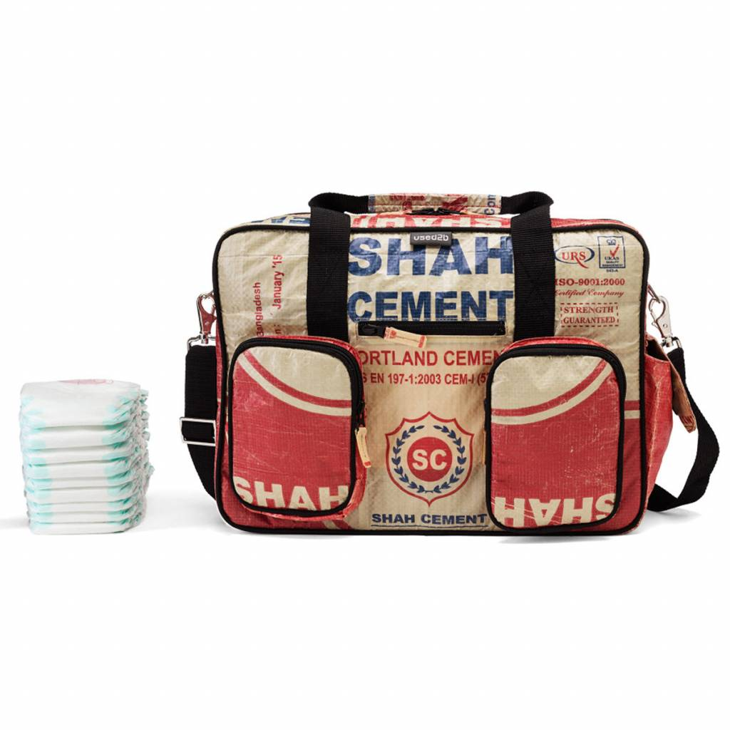 Used2b Diaper bag cement bags Shah red