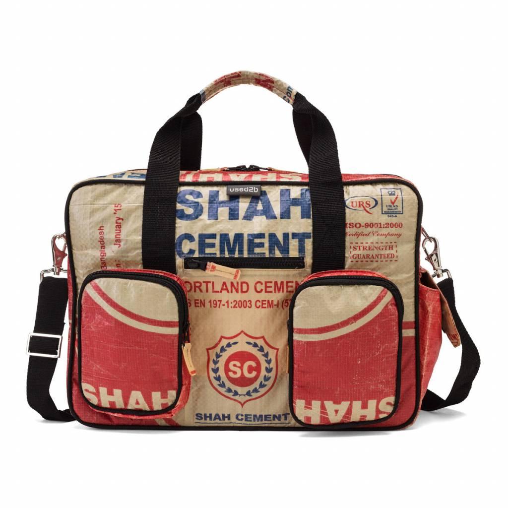 Used2b Stoere Luiertas gemaakt van Cementzakken rood