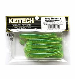 Keitech Keitech Easy Shiner 3 - Lime Chartreuse - 10 stuks