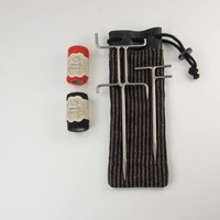 Twool Small drill line woolly bags Red & Black 35 m each