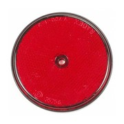 Reflector 60 mm schroef rood