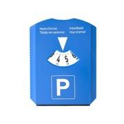 Parkeerschijf vinyl 15,5 X 12 cm + ijskrabber