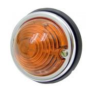 Breedtelicht oranje 70 mm + chrome rand