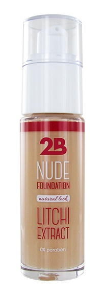 2B Cosmetics Nude Foundation met Litchi extract - 2 Peach