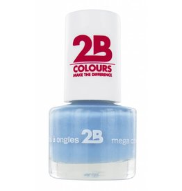 2B Cosmetics NAIL POLISH MEGA COLOURS MINI - 27 Powder Blue