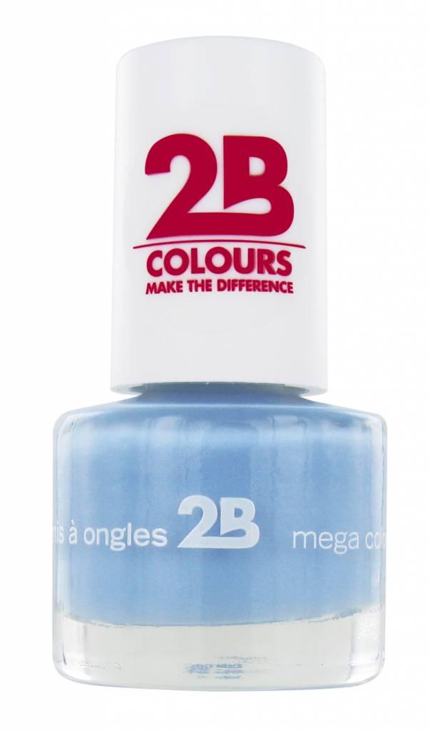 2B Cosmetics VERNIS à ONGLES MEGA COLOURS MINI - 27 Powder Blue