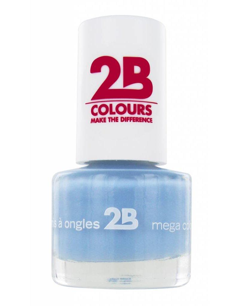 2B Cosmetics NAGELLAK MEGA COLOURS MINI - 27 Powder Blue
