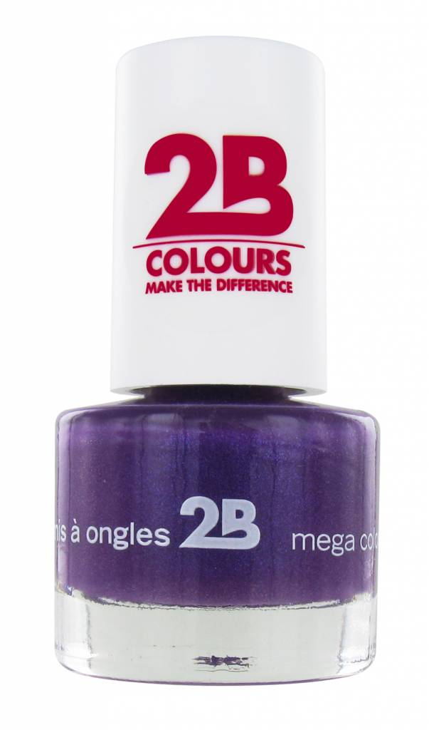 2B Cosmetics VERNIS à ONGLES MEGA COLOURS MINI - 22 Rich Lavender