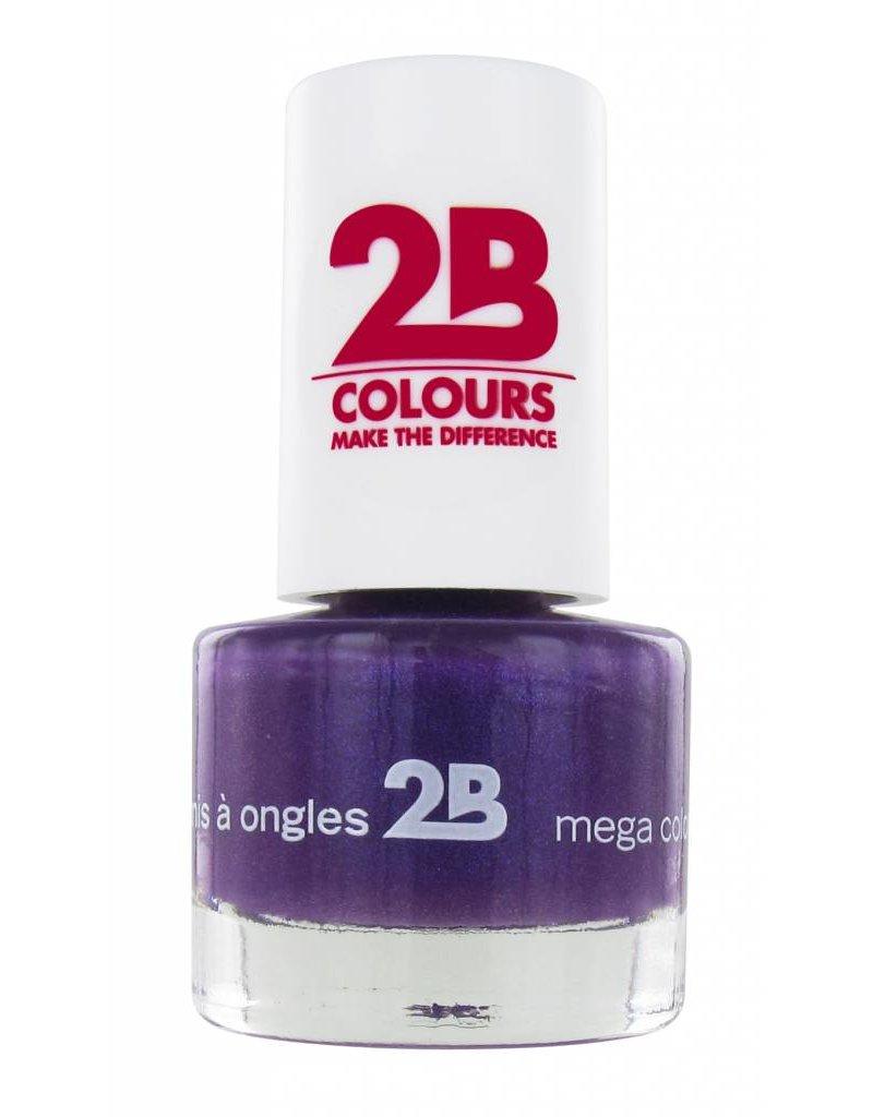 2B Cosmetics VERNIS à ONGLES MEGA COLOURS MINI - 22 Rich Lavender
