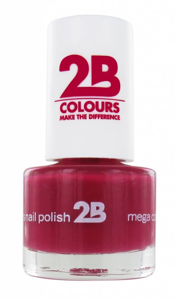 2B Cosmetics NAIL POLISH MEGA COLOURS MINI - 13 Rubine Red