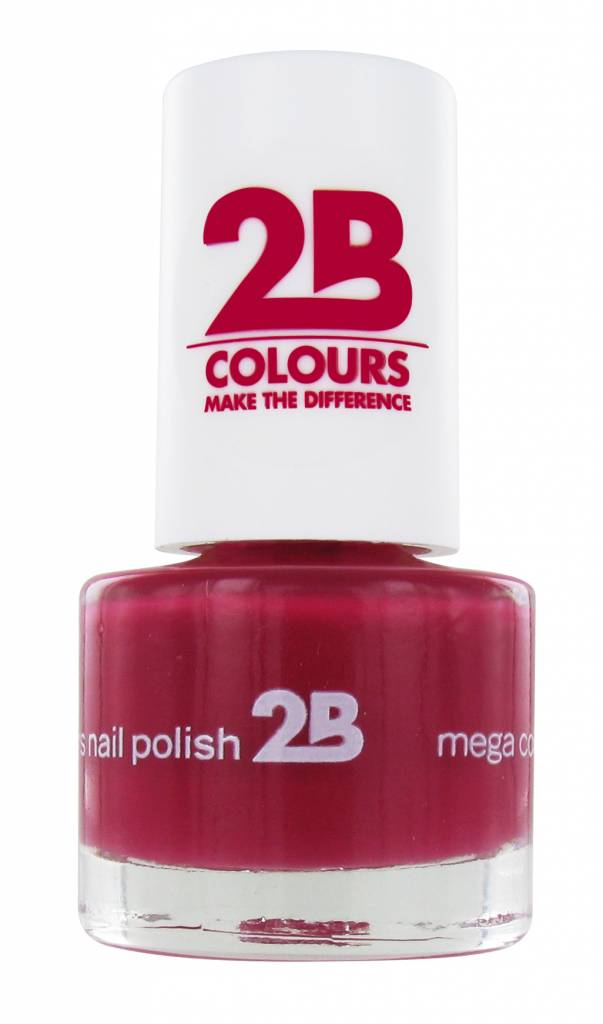 2B Cosmetics VERNIS à ONGLES MEGA COLOURS MINI - 13 Rubine Red