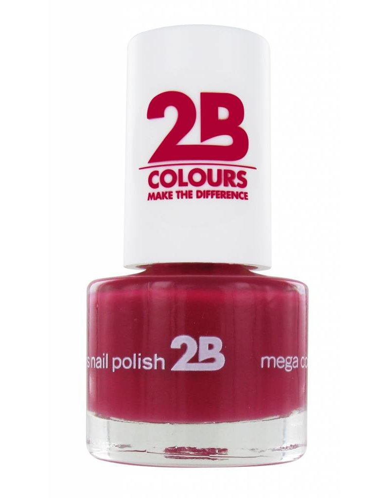 2B Cosmetics NAIL POLISH MEGA COLOURS MINI - 13 Rubine Red
