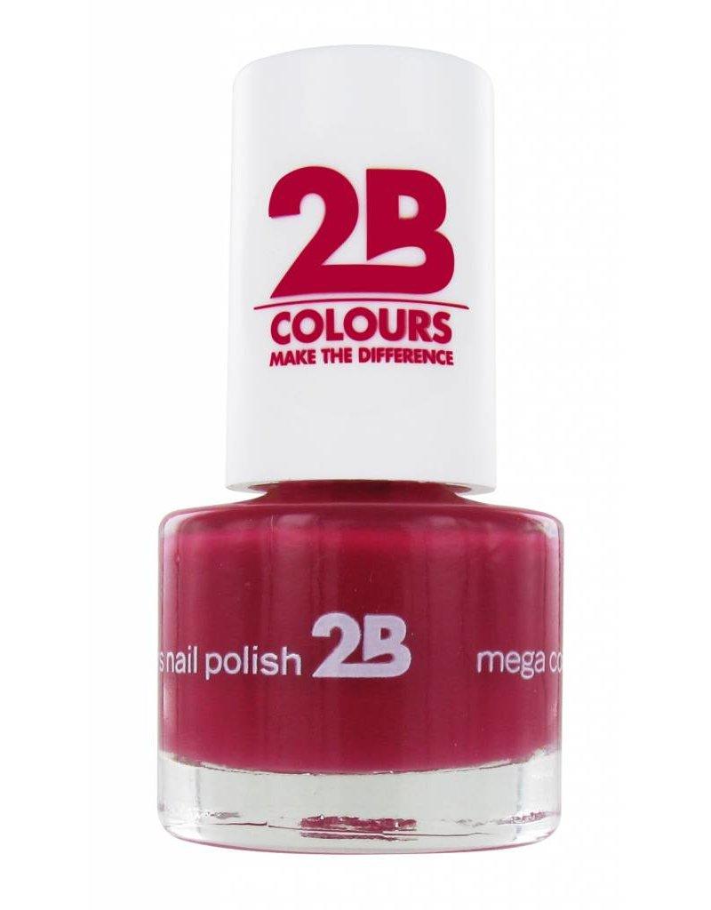 2B Cosmetics VERNIS à ONGLES MEGA COLOURS MINI - 13 Rubine Red