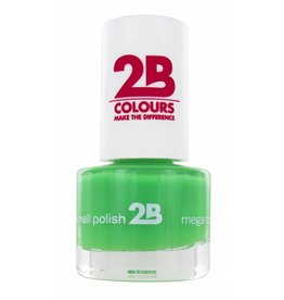 2B Cosmetics VERNIS à ONGLES MEGA COLOURS MINI - 24 Spring Green