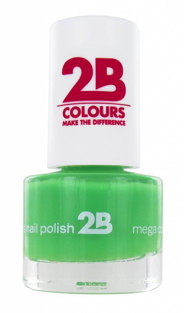 2B Cosmetics NAGELLAK MEGA COLOURS MINI - 24 Spring Green